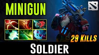 Soldier Sniper with MINIGUN! Dota 2
