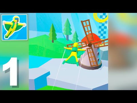 Base Jump 3D (by CASUAL AZUR GAMES) Gameplay Walkthrough 1-15 Levels (Android)