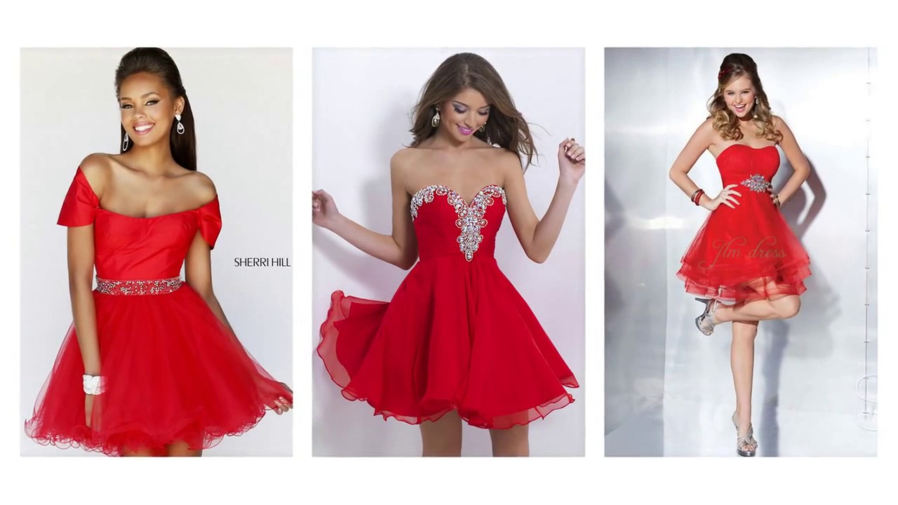 Top 100 Red party dresses, sexy red dresses for women - YouTube