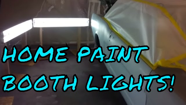 how to make a home garage paint booth with lights