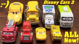 Disney CARS 3 Toys! Disney Pixar Cars 3 New Movie Characters. Miss Fritter, Arvy, Doctor Damage