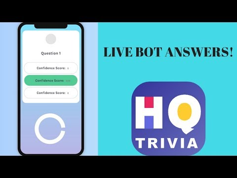 LIVE HQ Bot answers!!! Join the stream to watch and get answers!!!
