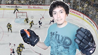 PLAYING NHL 17 WITH HOCKEY GLOVES!