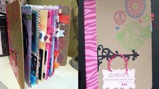 Hoe een school een mini scrapbook album - Gracie ' s 4e leerjaar album Deel 1