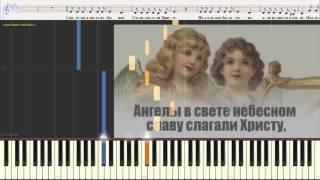 Звёздочки ярко сияли (Рождественская песня)  (Ноты и Видеоурок для фортепиано) (piano cover)