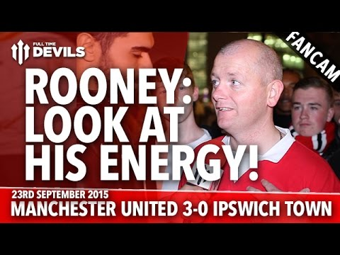 Rooney: Look At His Energy! - Manchester United 3-0 Ipswich Town - FANCAM - 동영상