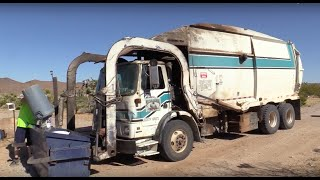 Autocar NewWay Mammoth Garbage Truck on Commercial and Residential!