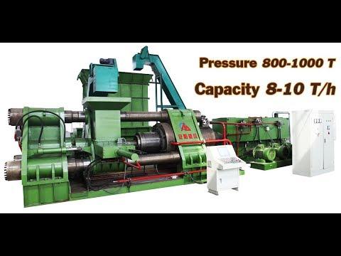 big metal chip briqutter(pressure is 1000T) compress cast iron, steel, copper, aluminum to be block