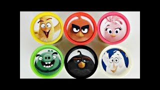 Nat and Essie Teach Colors with Angry Birds Play-Doh Lids