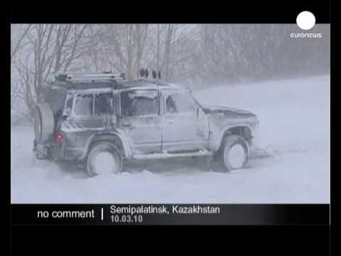 Snow in Kazakhstan