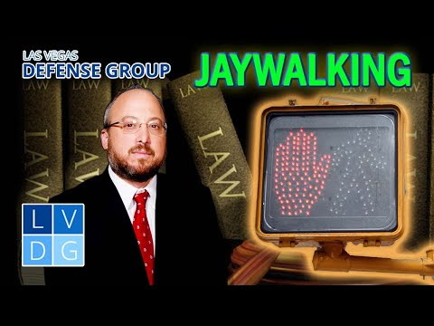 "Can I be arrested for ""jaywalking"" in Nevada? NRS 484B.287"