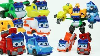 고고버스 6단합체로봇 자이언트 고든 장난감 놀이 소방차…