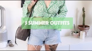 5 SUMMER OUTFIT IDEAS || Kate-Louise