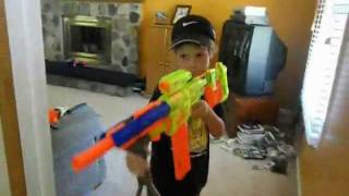 Repeat youtube video Nerf War The Movie