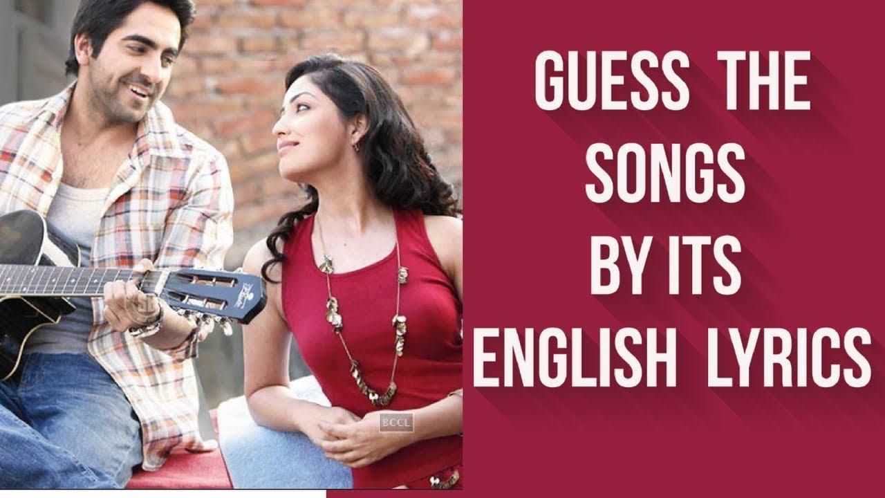 Guess The Song By Its English Lyrics Bollywood 1 Youtube Hindi movies songs lyrics, pakistani drama songs lyrics, and punjabi songs lyrics, and ghazal, poetry, shayari. guess the song by its english lyrics bollywood 1