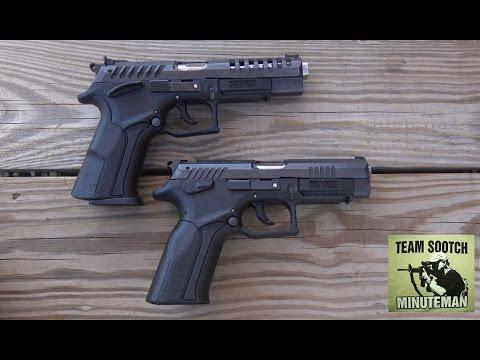 Grand Power X-Caliber and K-100 9mm Pistol Quick Comparison
