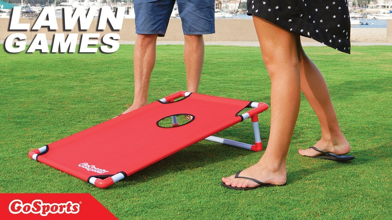 Merveilleux GoSports Portable PVC Framed Cornhole Game Set