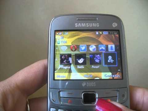 Samsung Ch@t 357 - Colocando contatos na tela inicial