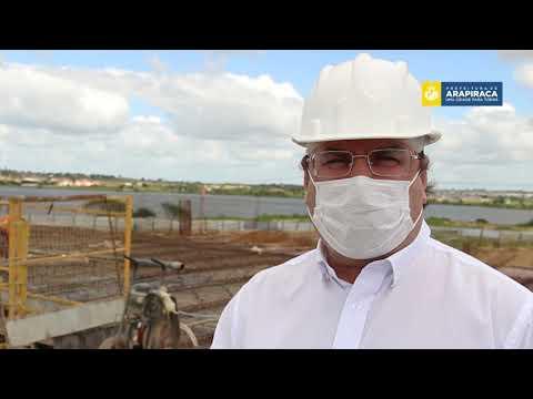 Prefeitura Luciano Barbosa visita obras do Centro de Convenções