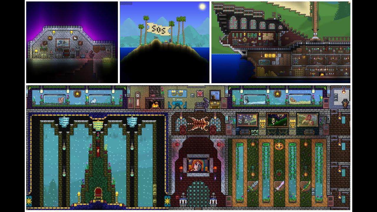 Terraria map - S&D & Callista world (Castle,ship,sea    )