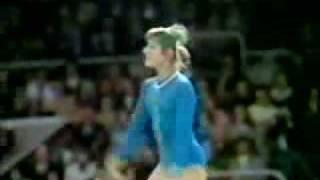 1973 USSR Gymnastics Display Olga  Korbut floor exercise