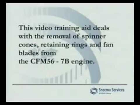 Remove The Fan Blade In Cfm56 7b Youtube