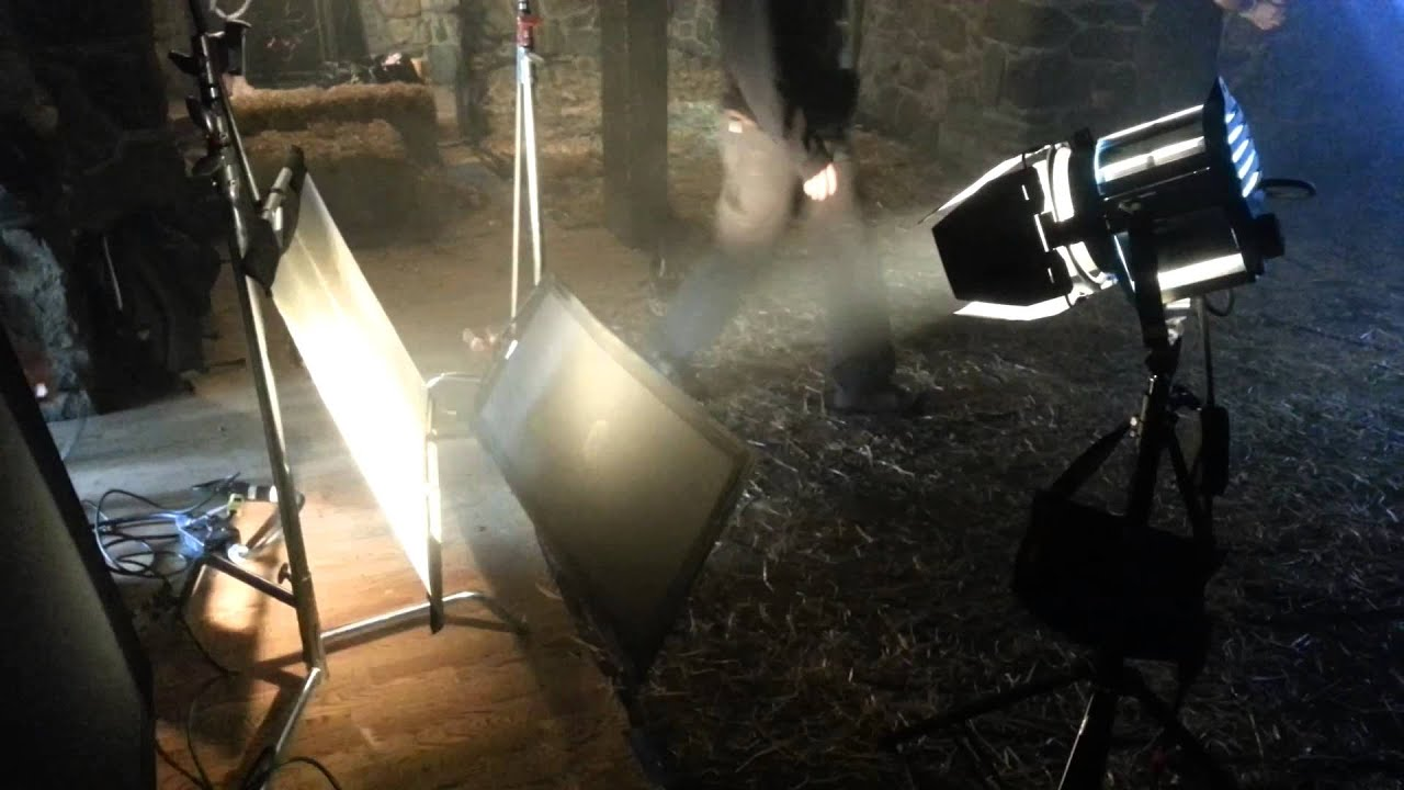 Creating Fire Light On A Film Set