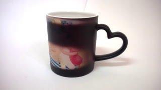 Матовая черная чашка Хамелеон с ручкой полусердце (Магическая чашка). Харьков(, 2014-02-05T16:16:34.000Z)