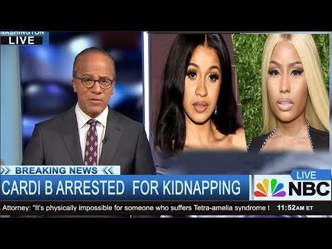 Breaking News: Cardi B Arrested for Felony Kidnapping of  Nicki Minaj