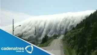Impresionantes imágenes de la neblina que cubre las montañas en Canadá
