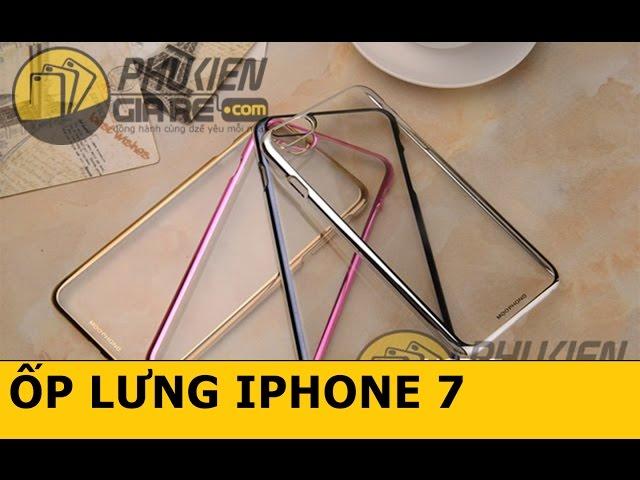 Ốp lưng trong suốt viền màu iPhone 7 hiệu Meephone (Noble Series Case)
