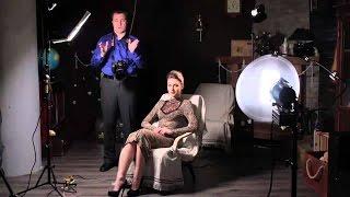 Видео мастер класс по фотографии - Съемка портрета с источниками Dedolight