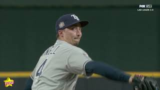 World series game 2: blake snell punches out a postseason career-high nine batters in 4 2/3 innings pitched during 2 of the series.#snell #rays #w...