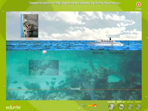 Determination of the Depth of an Ocean by Echo Sounding