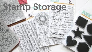 Card Making and Paper Craft How to: Clear and Cling Stamp Storage