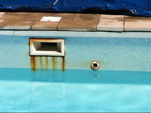Rust On Screws In Swimming Pool