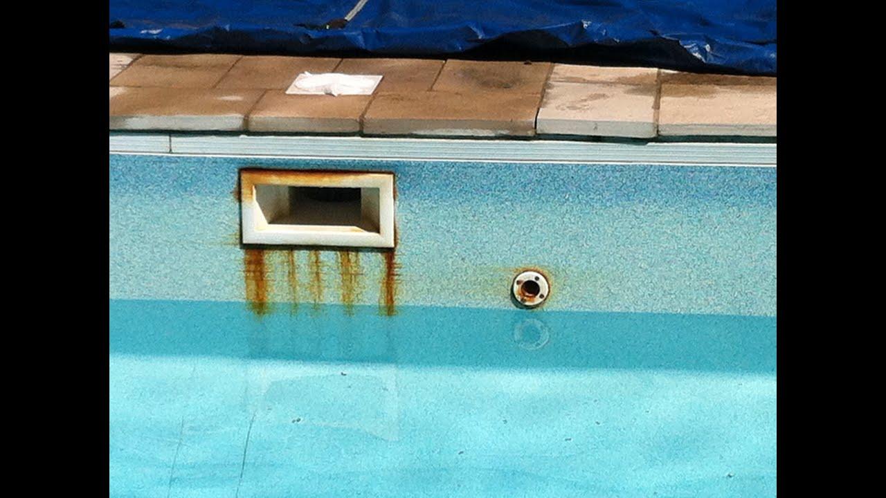 Rust On Screws In Swimming Pool Youtube