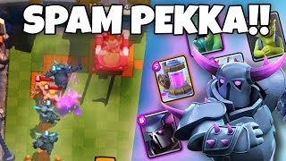 Clash Royale - PEKKA SPAM DECK - Super Fun!! | Maxing With Gems Ep. 2