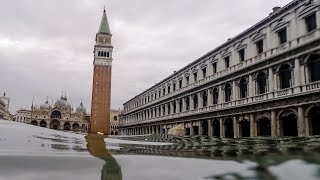 Venice hit by new high tide as St Mark's Square is closed