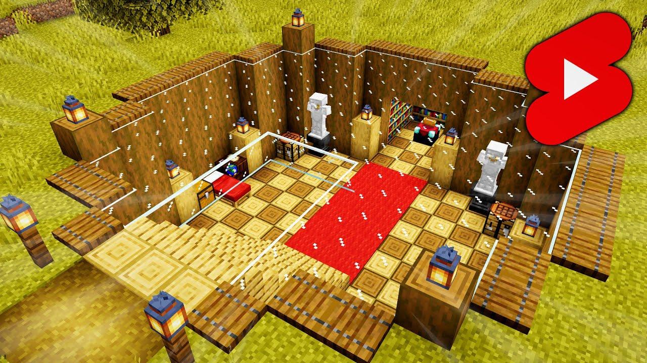 Minecraft Underground House   Minecraft Timelapse