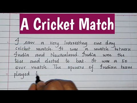 Essay on cricket match in english top business plan writing website for college