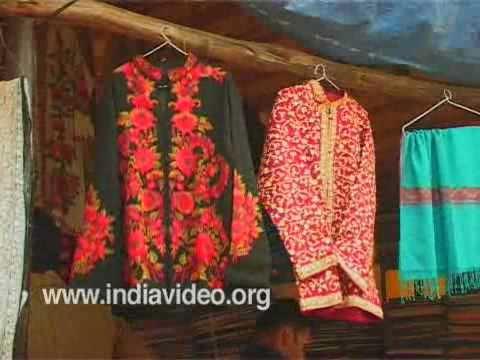 Colourful shawls from Delhi