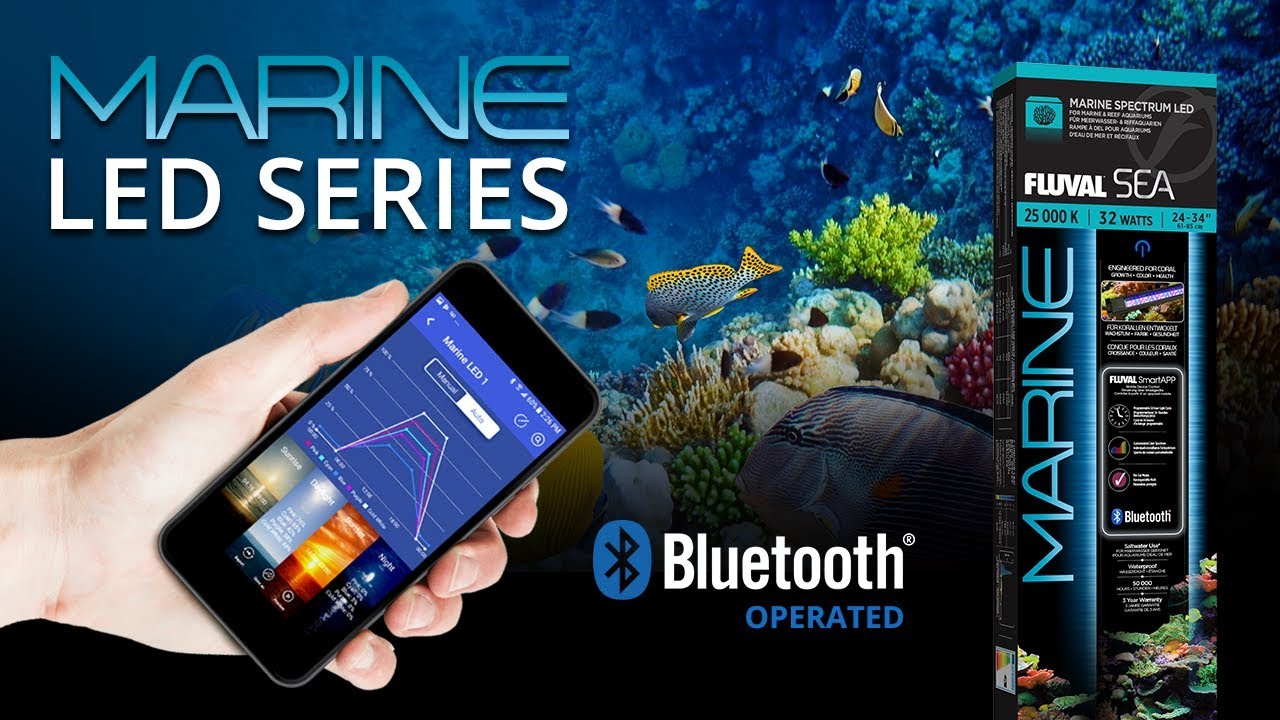 new fluval marine 3 0 bluetooth led youtube