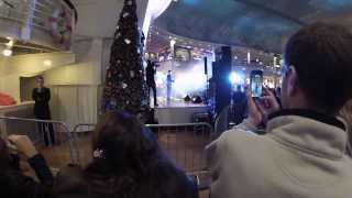 Richard and Adam BGT Intu Trafford centre christmas lights 2013
