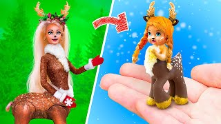 10 DIY Baby Doll Hacks and Crafts / Deer Family Christmas Ideas