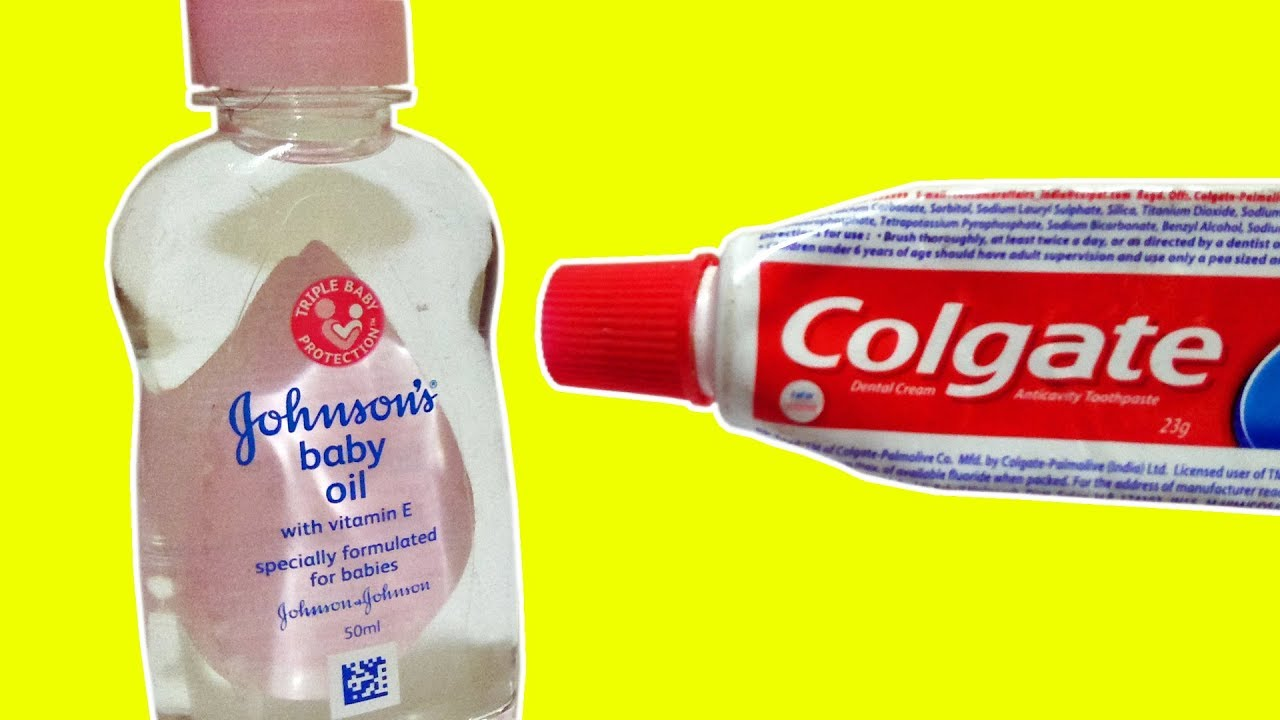 Johnson Baby Oil for Hand Beauty Skin Care & Toothpaste Lifehack That Can Change YOUR Life Forev