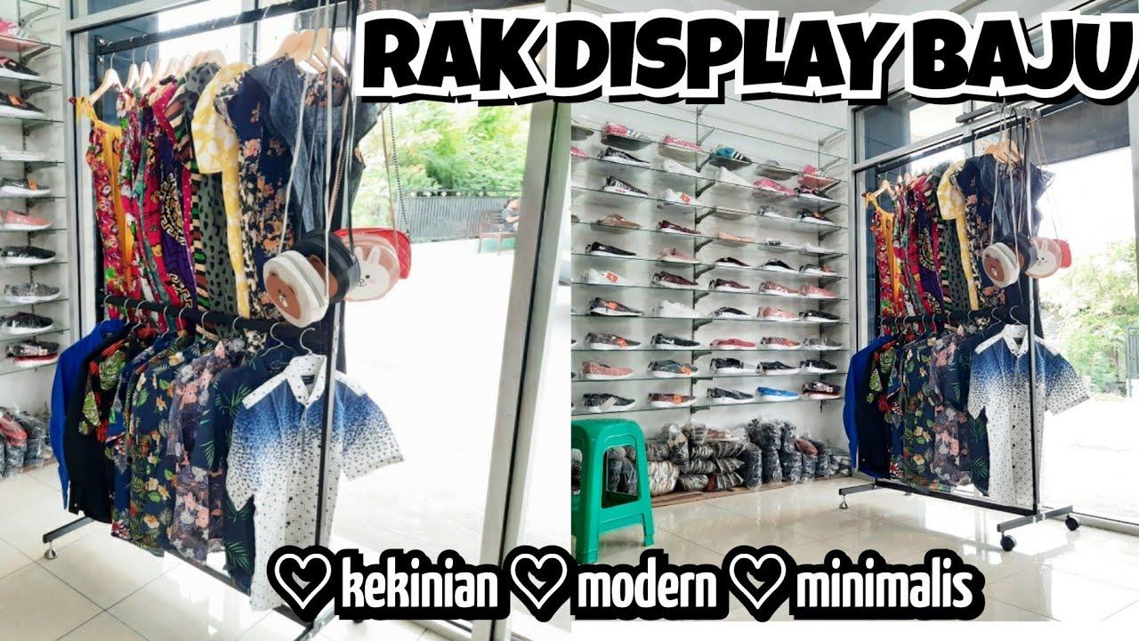 UNBOXING RAK DISPLAY BAJU GANTUNG DESAIN MODERN   RAK ...