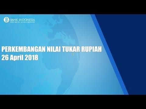 PERKEMBANGAN NILAI TUKAR RUPIAH -  April 2018