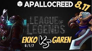 Apallocreed | Ekko vs Garen Top Ranked Patch 8.17