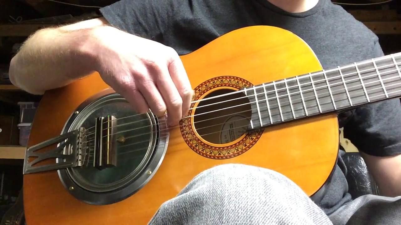Classical Guitar Resonator Modification - YouTube